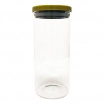 Berkeley Glass Jar W/Metal Lid Hermetic Seal Large JA108-L