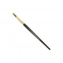 KM Super Kolinsky Acrylic Brush Black/Gold Oval #10, KM-BR10