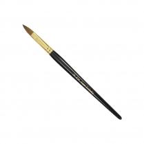 KM Super Kolinsky Acrylic Brush Black/Gold Oval #18, KM-BR18