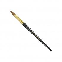 KM Super Kolinsky Acrylic Brush Black/Gold Oval #20, KM-BR20