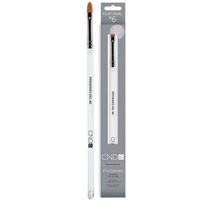 CND ProSeries Gel Brush Flat Oval #6 08098