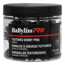 "BaBylissPRO Textured Bobby Pins Black 2"" 1/2 lb BESBTEXBKUCC"
