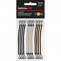 BaBylissPRO Hair Bungee 3 Colors 12PK BESHRBGASSTUCC/37183
