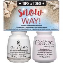Gelaze Tips & Toes Snow Way! 2pk #83804