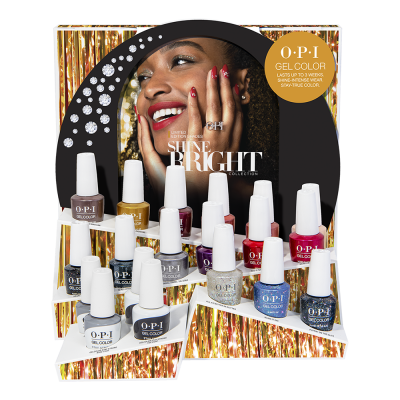 OPI Gelcolor Shine Bright 19Pcs Chipboard Display HP M22