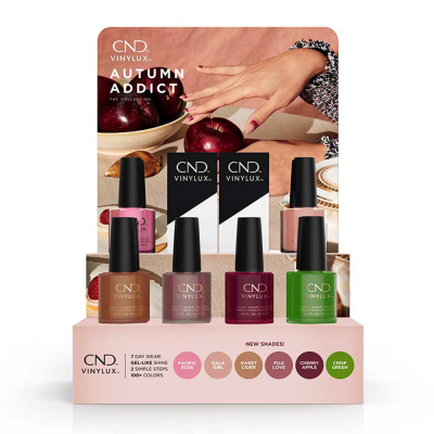 CND Vinylux Autumn Addict 14Pcs Display 00824