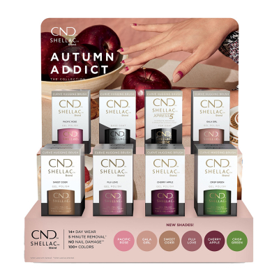 CND Shellac Autumn Addict 16Pcs Display 00823