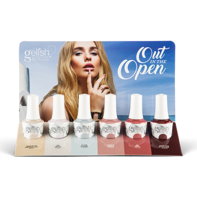 Gelish Gel Polish Out In The Open 6Pcs Display 1130036