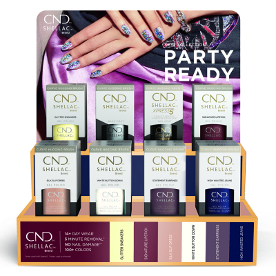 CND Shellac Fall Collection 2021 Party Ready Display 16pcs