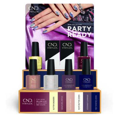 CND Vinylux Fall Collection 2021 Party Ready Display 14pcs