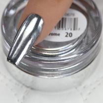 Cre8tion 20-Super Silver Chrome Nail Art Effect 1g 1101-0678
