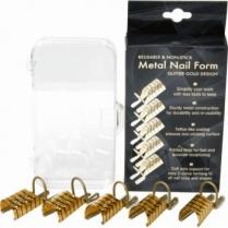 Berkeley Resuable Metal Nail Form Gold Design 5pk NF110-GG