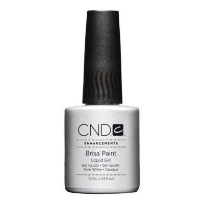 CND Brisa Paint Liquid Gel Pure White Opaque 0.43 oz 08055