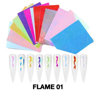 Cre8tion Nail Art Sticker 16 pcs Flame 01 1101-1083