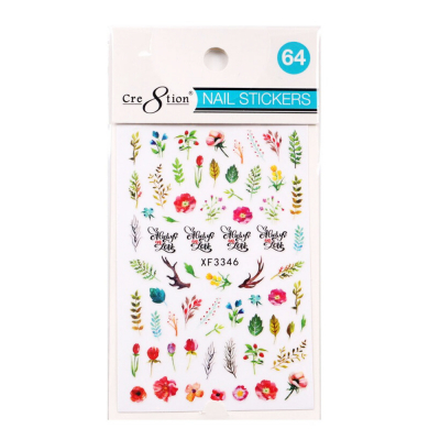 Cre8tion Nail Art Sticker Butterfly 64 1101-1195
