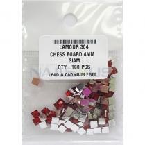 Lamour Chess Board 4mm Siam, 100pcs #304