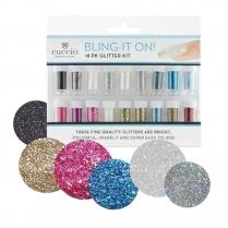 Cuccio Bling It On 18 Pk Glitter Kit CPNA9000