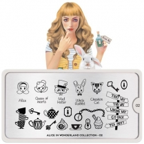 MoYou Nail Art Plate Collection Alice 02 #MPALI02