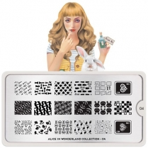 MoYou Nail Art Plate Collection Alice 04 #MPALI04