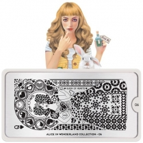MoYou Nail Art Plate Collection Alice 06 #MPALI06