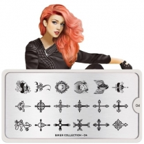 MoYou Nail Art Plate Collection Biker 04 #MPBIK04