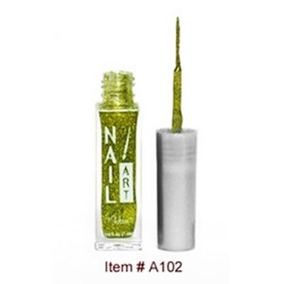 Nubar Nail Art Strippers Lime Green Glitter A102