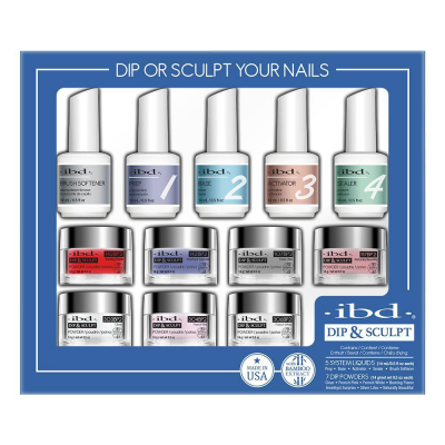 IBD Dip & Sculpt French Kit 12PC W/Bamboo Extract 13503