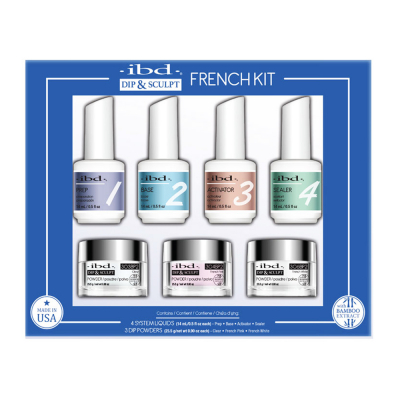 IBD Dip & Sculpt French Kit 7PC W/Bamboo Extract 13504