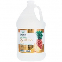 La Palm Organic Cuticle Oil 1 Gallon Clear Pineapple LP061
