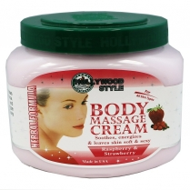 Hollywood Style Body Massage Cream Rasp/Strawb. 20 oz 75562
