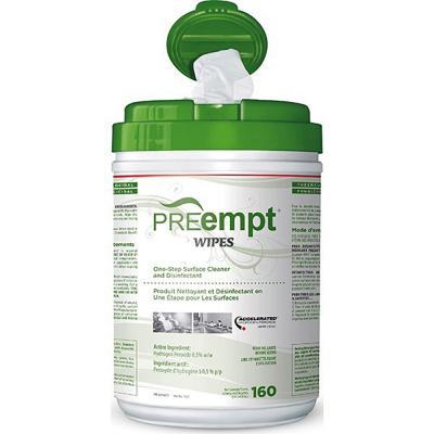 Accel PREempt Wipes Cleaner&Disinfectant 160Sheets PRE-11221
