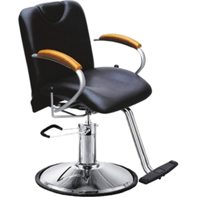 Styling Chair, Round Base, Black With Adjust Back H-2210