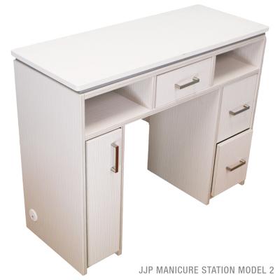 JJP Manicure Table 38 x15.5 x 30 Countour White