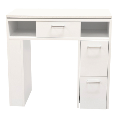 "JJP Manicure Table 32w""x15.5D""x30H"" High Gloss White."