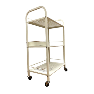 PI Beauty Trolley Metal 3 Shelves White BT-021