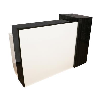 JJP High Gloss Reception Desks - White/Grey
