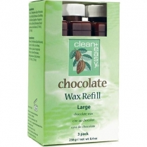 C&E Large (Leg) Chocolate Wax Refill 3 packs 47342