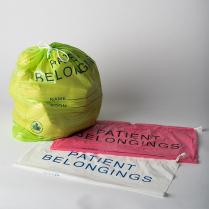 PATIENT BELONGING BAG REGULAR-STRENGTH, D-STRING, FUCHSIA, 50 x 50 x10 cm