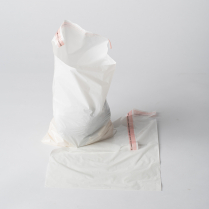 "PLASTIC BEDSIDE BAG, ADHESIVE STRIP, 9.5"" X 10.5"""