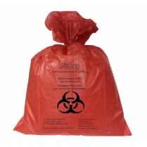 """BIOHAZARD AUTOCLAVE BAGS, RED 25"""" x 30"""""""