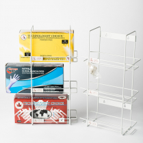 WIRE HOLDER FOR 3 GLOVE BOXES