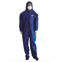 FIRE RETARDANT COVERALL WITH HOOD & BOOTS, DARK BLUE, SIZE 2XL