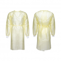 ISOLATION GOWN, YELLOW, LARGE, AAMI LEVEL 2