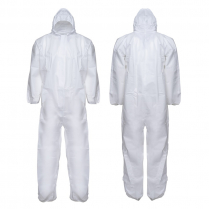 MICROPOROUS COVERALL WITH HOOD, CLASS 5/6, SIZE LARGE