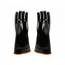 RUBBER SAFETY GLOVES WITH SMOOTH FINISH