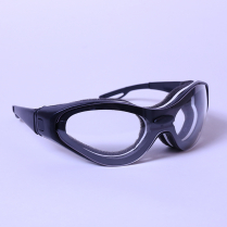 CLEAR LENS BLACK TEMPLES SAFETY SPECTACLE