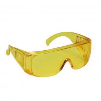 HARD-COATED LENS  SAFETY SPECTACLE - YELLOW TEMPLES