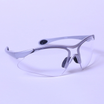 CLEAR LENS SAFETY SPECTACLE - SILVER TEMPLES