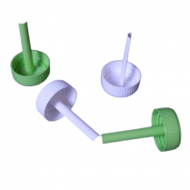 CAPS WITH SPOON, FOR 30ml CONTAINER, GREEN