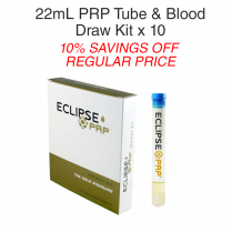 22ml PRP Tube & Blood Draw Kit 10 Pack